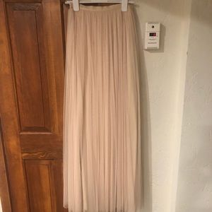 Light pink tulle floor length skirt. Size 2.